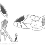 Back to the Earth - Ship Design B&W
