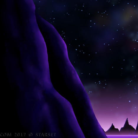 Back to the Earth - Purple Planet Mountain Side