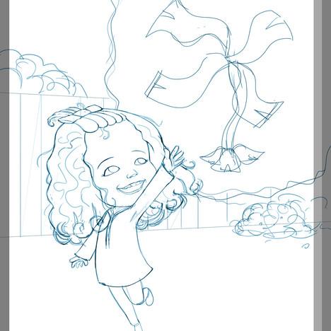 """""""Melanie's Garden"""" - sample page sketch"""