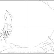 """""""How the Squid Got Two Long Arms"""" - spread sketch 2"""