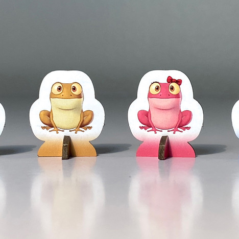 Ribbit Rivalry Frog Standees