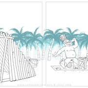 """How the Rhino Got His Skin"" - sample spread 1 clean linework"