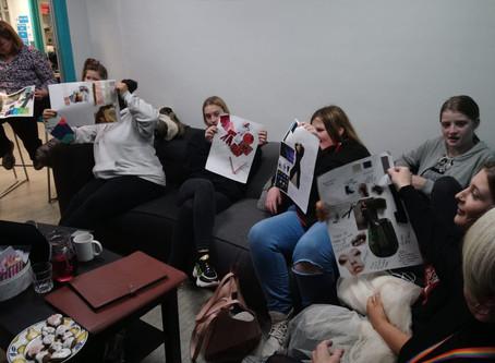Mentoring Plus Girls' Group get creative.