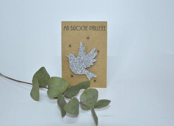 Broche colombe argent - cadeau catho