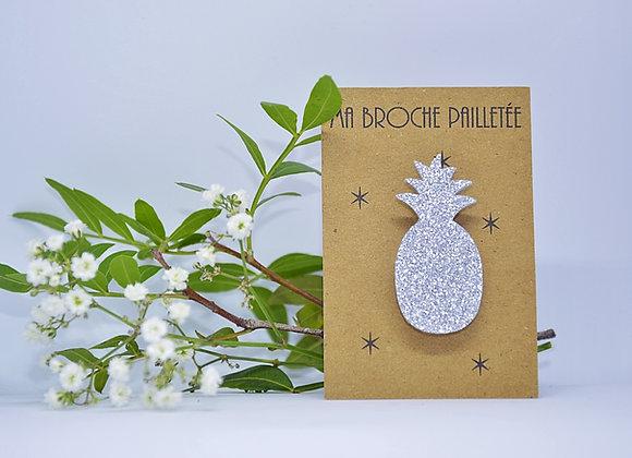 broche ananas Paillettes et Superflu