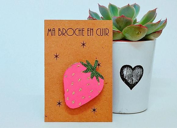 broche envie de fraise pink