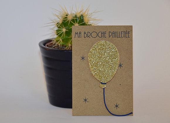 broche ballon or paillettes & superflu