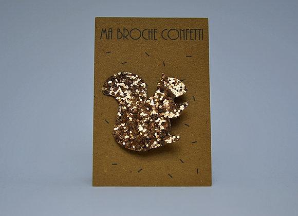 "Broche écureuil ""confetti"""