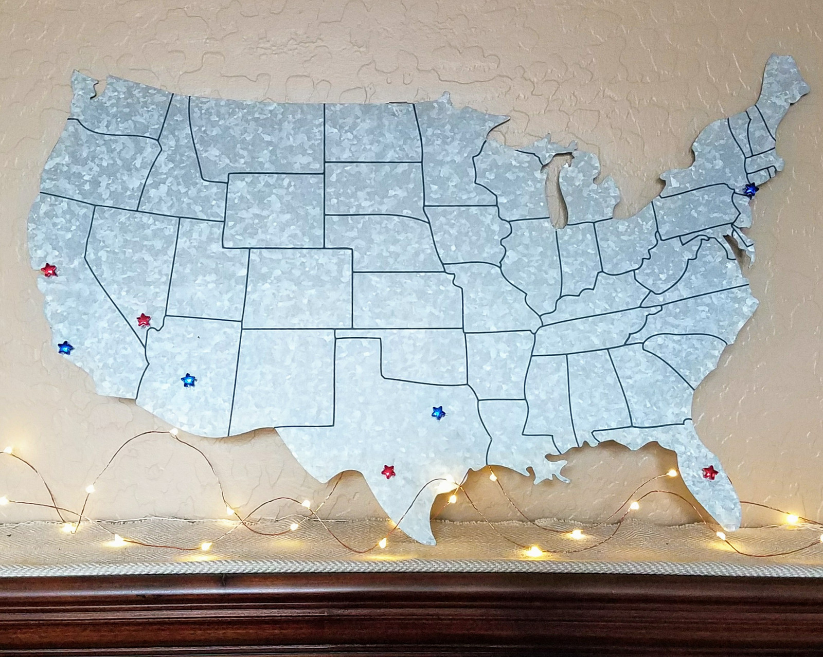 Metallic US Map Handmade Gifts In Phoenix United States With - Phoenix us map