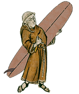 surfing monk