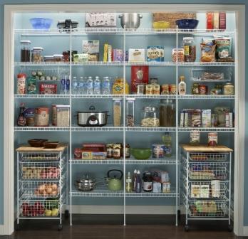 Wire shelf pantry