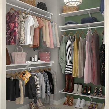 Closet wire shelves