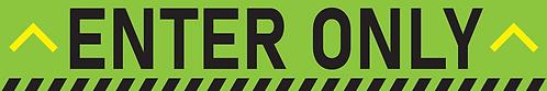 Enter Only - Bar Sticker