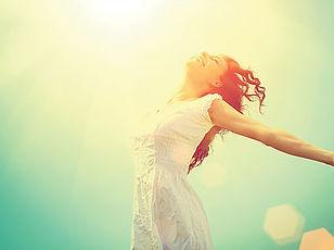 Free Happy Woman Enjoying Nature_ Beauty