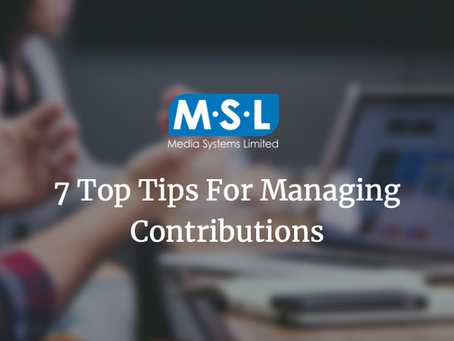 Tips for Saving Time & Money on Contributions Webinar