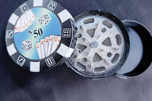 Pokerchip Herb Grinder Black