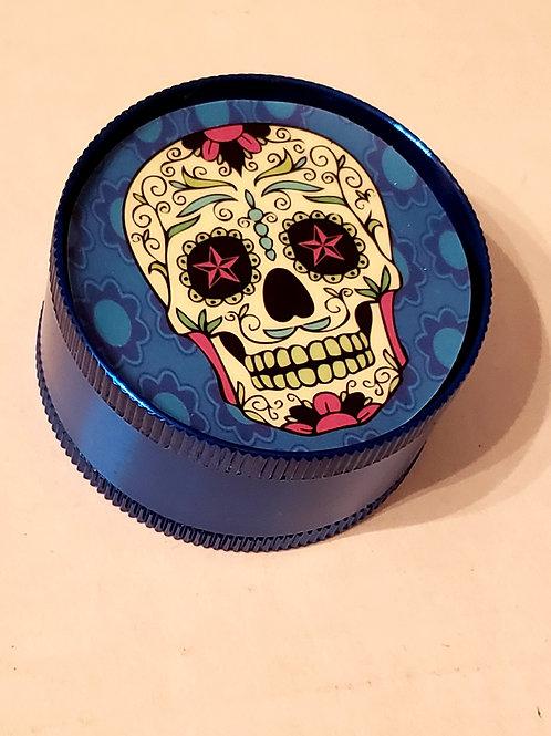 Royal Blue Candy Skull Grinder