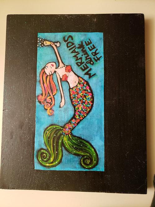 Mermaid Drink Free Sign