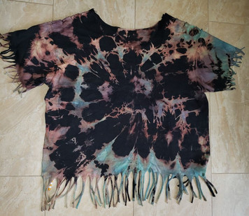 Rose Moon Tie Dye Shred