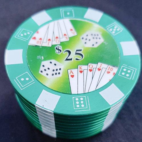 Pokerchip Herb Grinder Green