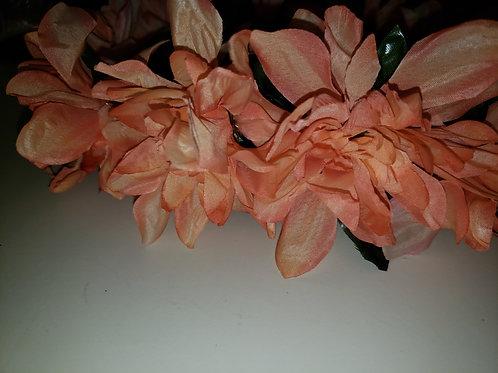 Peachy Pink Flower Crown