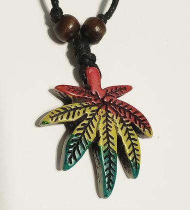 Rasta Potleaf Unisex Adjustable Necklace