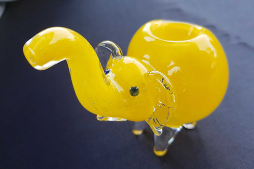 Elephant tobacco pipe yellow
