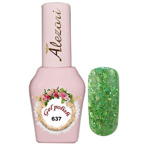 Gel polish №637 15ml. Glitter Λαδι Παγιετα
