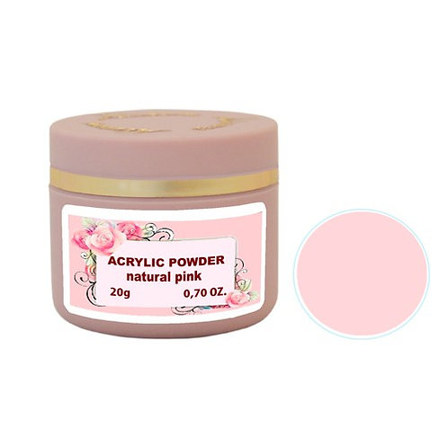 ACRYLIC POWDER NATURAL PINK 20g