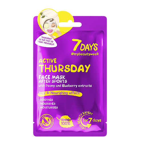 7DAYS Active Thursday Sheet Mask 28g