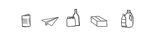 hvordan sorterer du metal, pap, plast, papir & glas