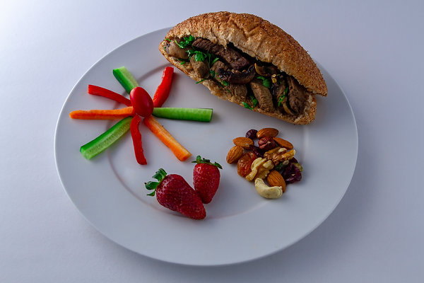 Meat sandwich with coriander