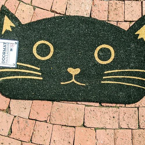 Black Cat Doormat
