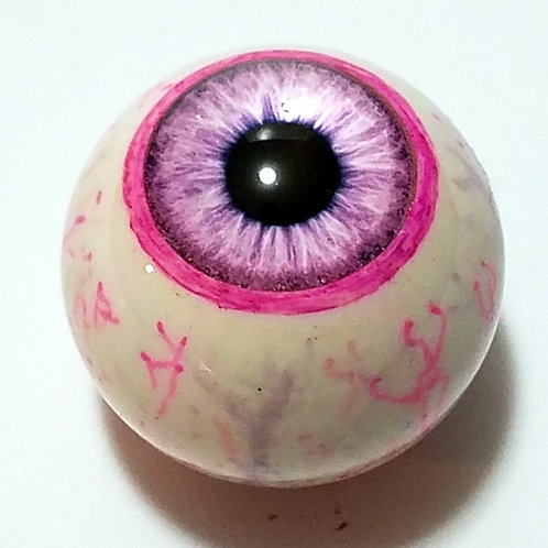 Pink Eyeball Top with Pink and Gray Veins