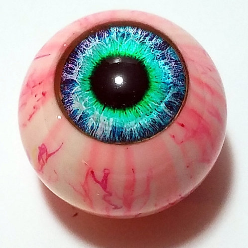 Teal Eyeball Top with Red Veins