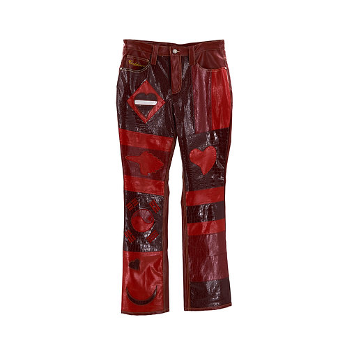 World Boss Leather Pants (Red Croc)