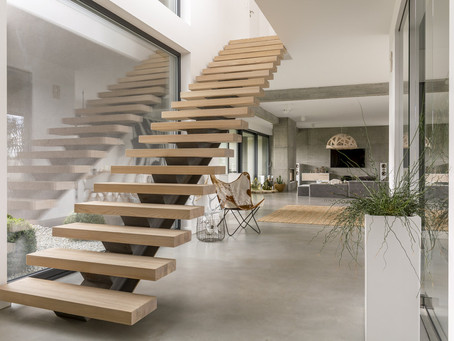 Timber Staircase Trend: Cantilever Floating Stairs