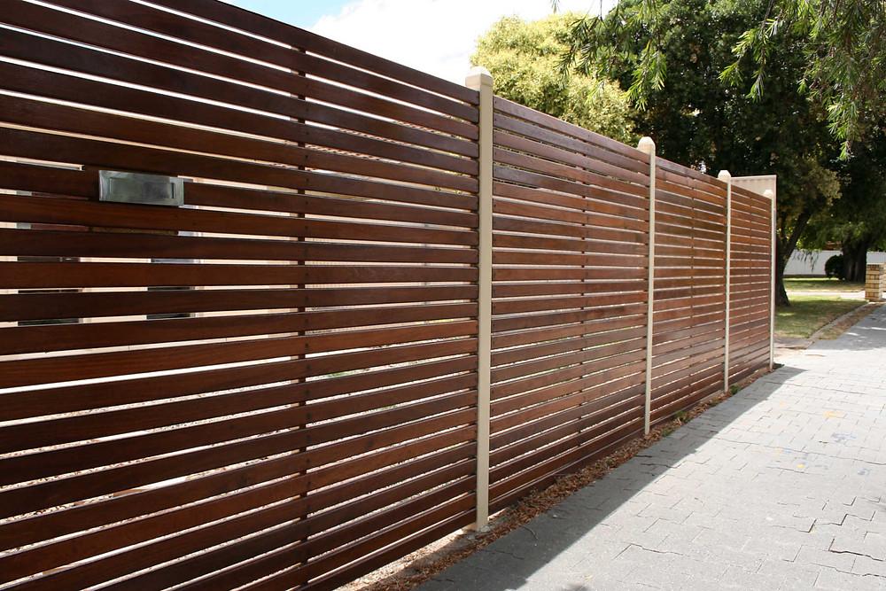 Sleek Horizontal Fence