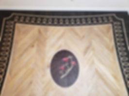 Medallion design flooring