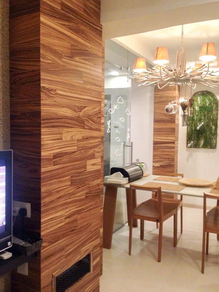 Textured Wood Cladding Wall