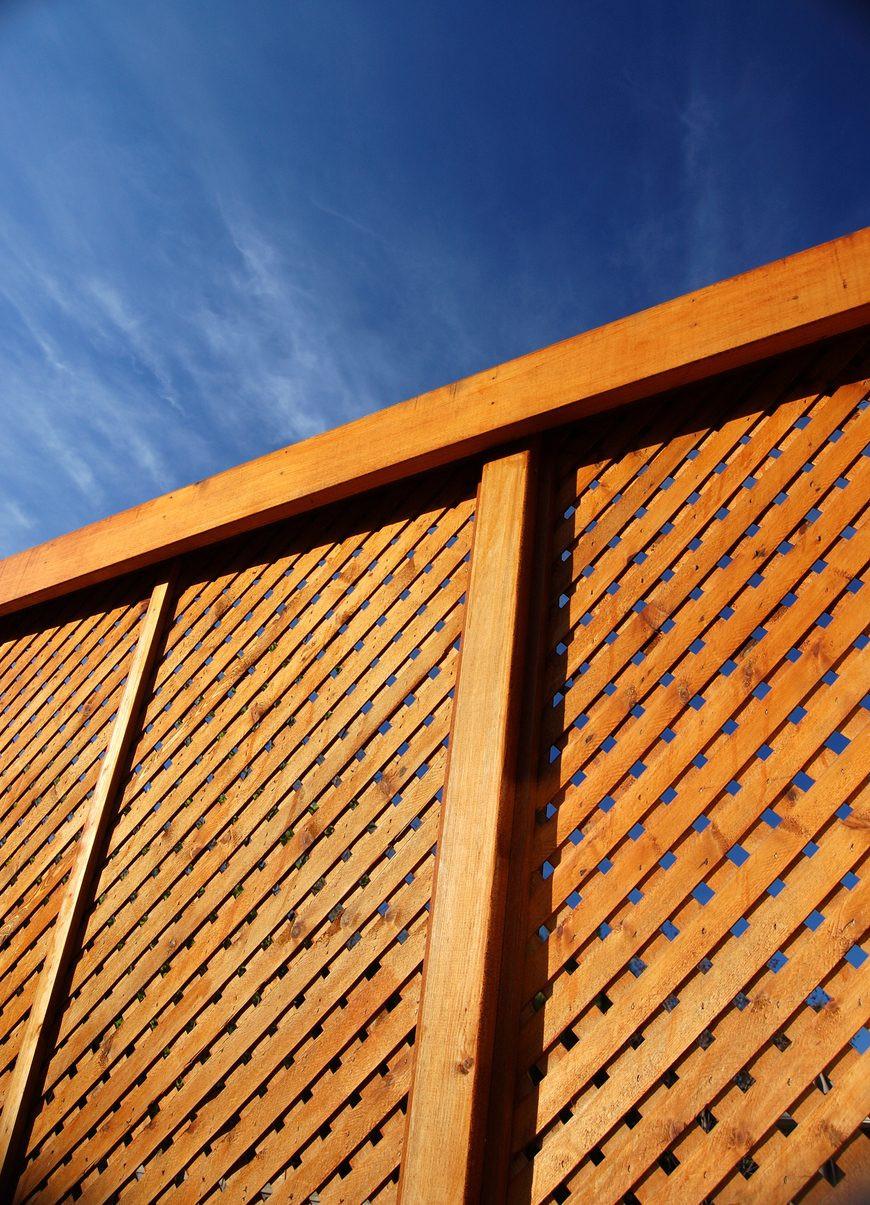 Weaved Lattice Fence