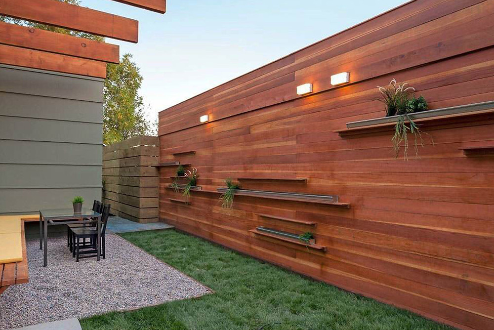 Fence With Shelves And Lights