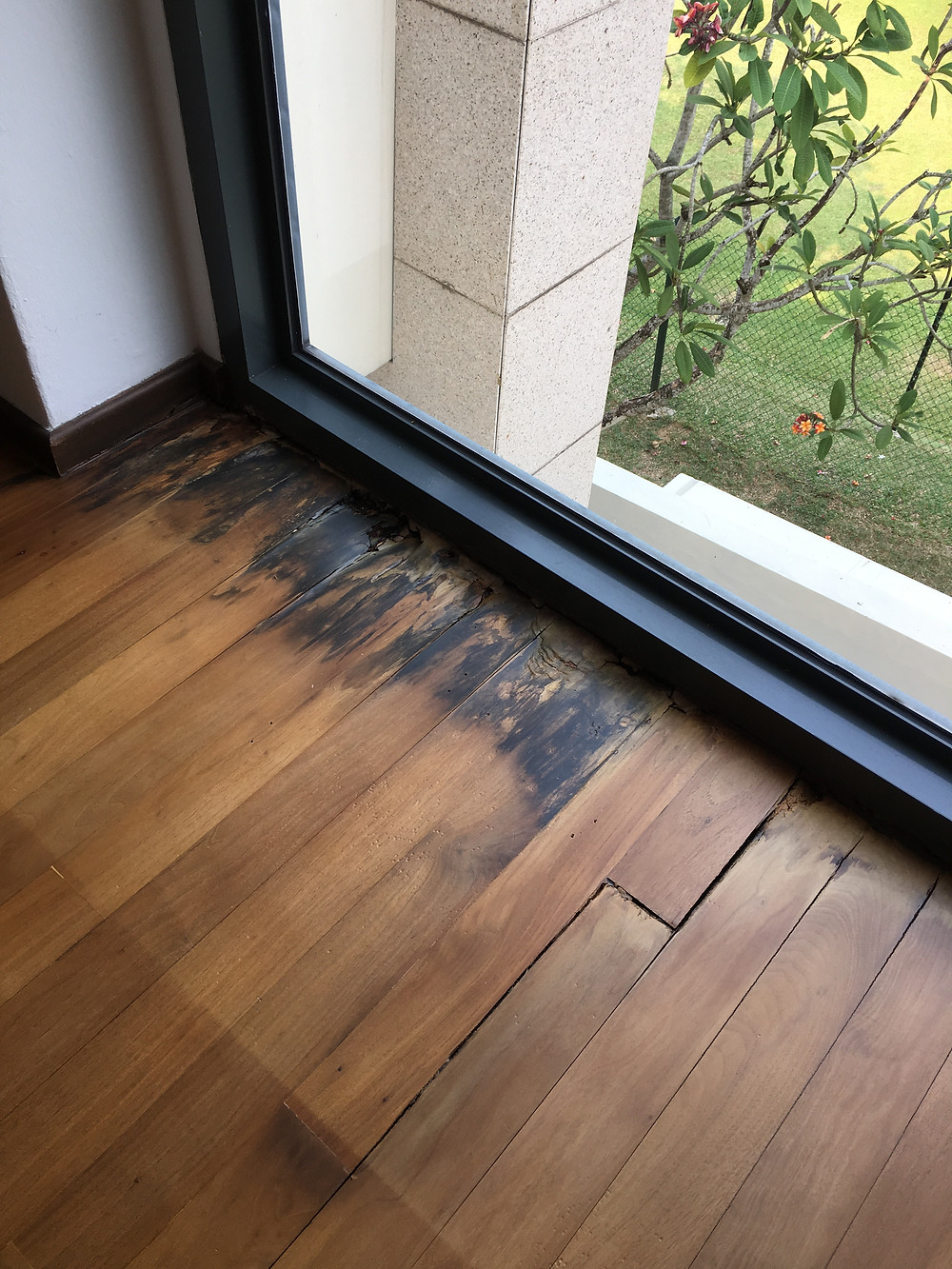 Water Damage On Hardwood Flooring