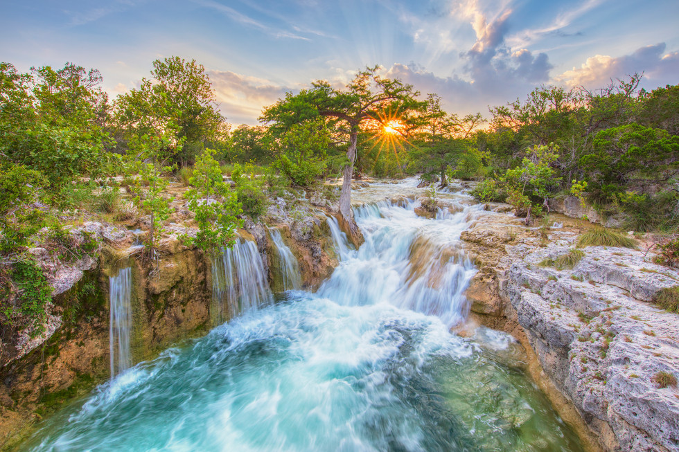 Texas Hill Country Waterfall 1