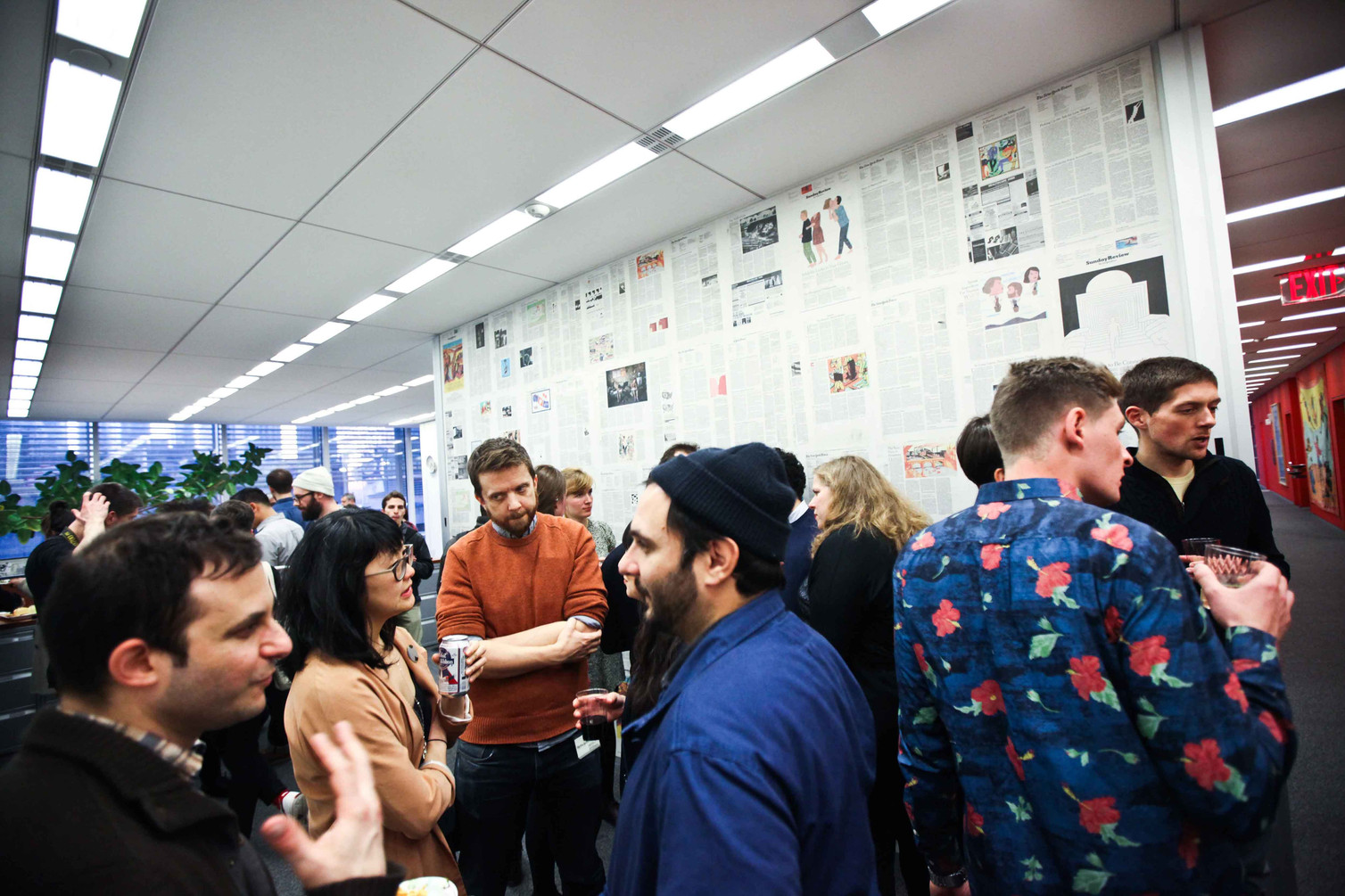 The opening reception at The New York Times' Gallery 7