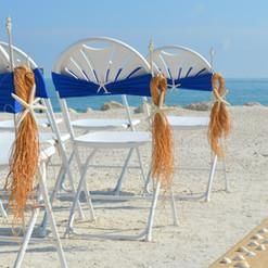 White Starfish Raffia Hangers