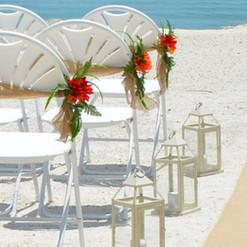 Aisle Chair Flowers w/Burlap