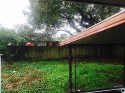 Home backyard before reno