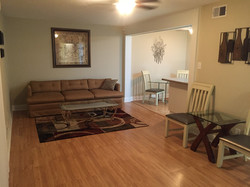 Condo 2 living room after renovation