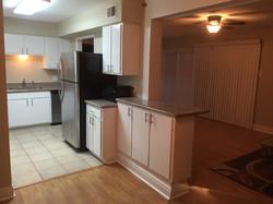 Condo 2 kitchen/living after reno